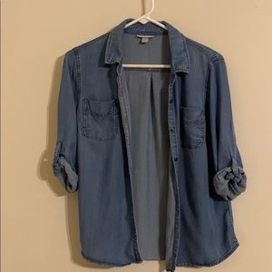 Soft Denim 3/4 Sleeve Shirt